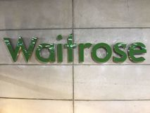 LOGO of Waitrose store, London stock photo
