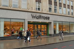 Waitrose store London. Waitrose store in London Edgware Road Royalty Free Stock Image