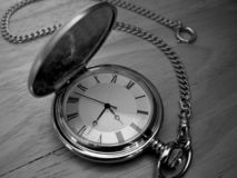 It Waits for None. Close up of a classic time piece stock photo