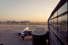 Waitting Raum des Flughafens Stockfoto