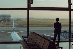 Waitting Raum des Flughafens Lizenzfreies Stockbild