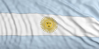 Waiving Argentina flag. 3d illustration Stock Photo