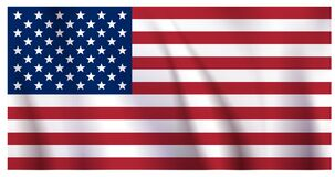 Free Waiving US Flag Royalty Free Stock Photo - 193295995