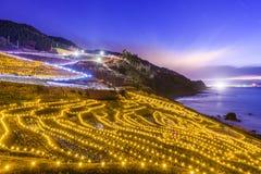 Wajima, de Rijstterrassen van Japan stock afbeeldingen