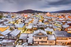 Wajima, Ishikawa, de stadshorizon van Japan in de winter stock afbeeldingen