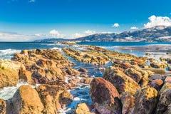 Wajima, Ishikawa, het landelijke kustpark van Japan stock foto