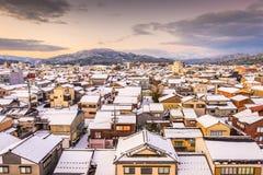 Wajima, Ishikawa, horizon de ville du Japon en hiver photo stock