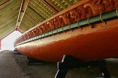 Waka maori (canoa) imagem de stock royalty free