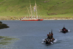 Waka Tapu历史的远航到家 库存照片