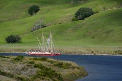 Waka Tapu历史的远航到家 免版税库存图片