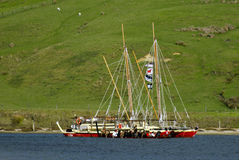 Waka Tapu历史的远航到家 图库摄影