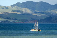 Waka Tapu Historic Voyage Arrived hem Royaltyfri Foto