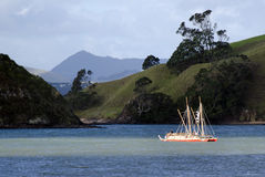 Waka Tapu Historic Voyage Arrived hem Royaltyfri Bild