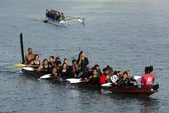 Waka Tapu Historic Voyage Arrived Home Stock Image
