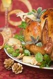 wakacje świąteczne stołu indyk Obrazy Stock