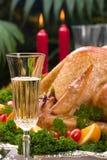 wakacje świąteczne stołu indyk Fotografia Stock