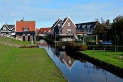 Wakacje Amsterdam i volendam krajobraz Obrazy Royalty Free