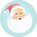 Wakacje & boże narodzenia. Szczęśliwa twarz Święty Mikołaj Zdjęcia Royalty Free