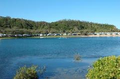 wakacje campingowego rzeki Zdjęcie Royalty Free