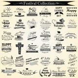 Wakacje i festiwalu kaligrafia royalty ilustracja