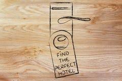Wakacje i turystyka: Znajduje Perfect hotel Obrazy Stock
