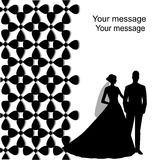 Wakacje karta z nowożeńcy Fotografia Royalty Free