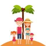 Wakacje letni cieszą się ikonę Fotografia Stock