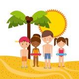 Wakacje letni cieszą się ikonę Obraz Royalty Free