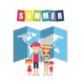 Wakacje letni cieszą się ikonę Obrazy Royalty Free