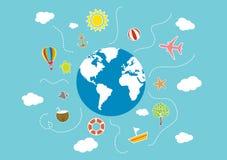 Wakacje Letni ilustracyjni ilustracji