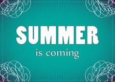 Wakacje letni ilustracyjni. Struktura dla powitania lub zaproszenia. Fotografia Stock