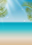 Wakacje letni ilustracyjni. Struktura dla powitania lub zaproszenia. Obraz Stock