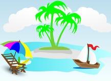 Wakacje letni na plaży Zdjęcia Stock