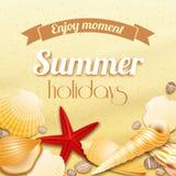 Wakacje letni urlopowy tło Zdjęcia Stock