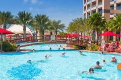 Wakacje letni w Abu Dhabi, UAE Obraz Stock