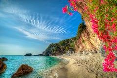 Wakacje letni w Corfu wyspie, Grecja zdjęcia royalty free