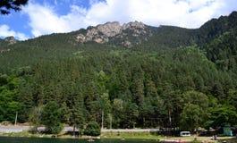 Wakacje letni w górach Zdjęcia Royalty Free