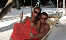 Wakacje letni wakacje w Maldives zdjęcie stock
