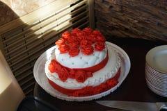 wakacje Ślubny tort Zdjęcia Stock