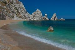 Wakacje na Monte Conero parku w Adriatic morzu Obraz Royalty Free