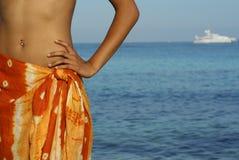 wakacje na plaży Zdjęcia Stock