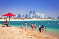 Wakacje na plaży w Abu Dhabi Obraz Royalty Free