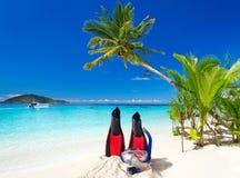 Wakacje na tropikalnej plaży zdjęcie royalty free