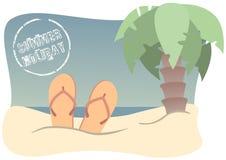 Wakacje plaża Royalty Ilustracja