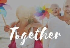 Wakacje Positivity Rodzinny pojęcie Obrazy Royalty Free