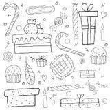 wakacje protestuje set Urodzinowe rzeczy ilustracji