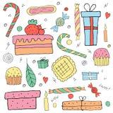 wakacje protestuje set Urodzinowe rzeczy Fotografia Stock