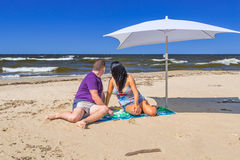 Wakacje przy morzem bałtyckim Zdjęcia Royalty Free