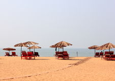 Wakacje przy plażą zdjęcie royalty free