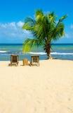 Wakacje przy raj plażą Zdjęcia Royalty Free